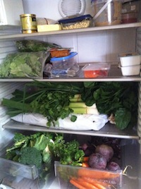vegies in fridge